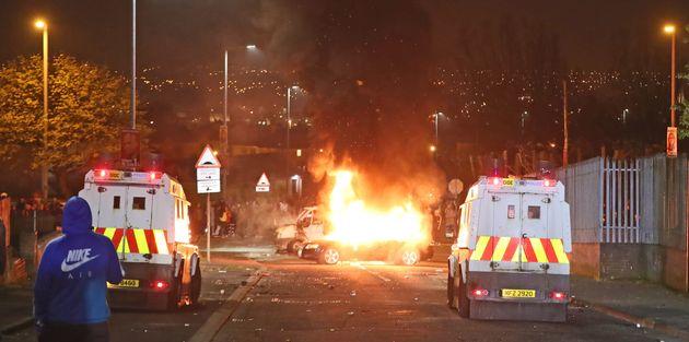 Londonderry en Irlande du Nord dans la nuit de jeudi à