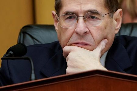 FILE PHOTO:    Chairman of the House Judiciary Committee Jerrold Nadler (D-NY) listens to testimony during a mark up hearing on Capitol Hill in Washington, U.S., March 26, 2019.      REUTERS/Joshua Roberts/File Photo