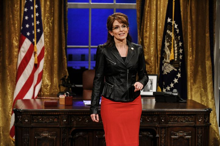 "Tina Fey as Sarah Palin on a 2018 episode of ""Saturday Night Live."""