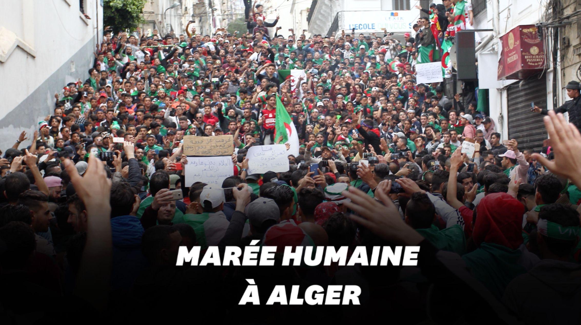 Les Algériens manifestent en masse pour le 9e vendredi
