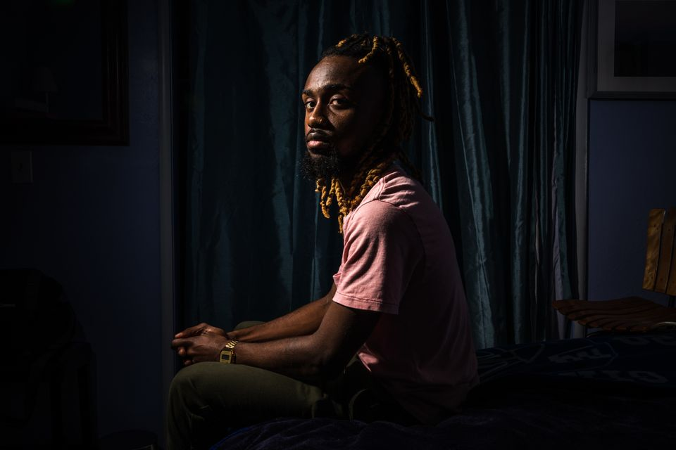 Sharif Hassan, now 25, at his grandmother's house in Oakland,