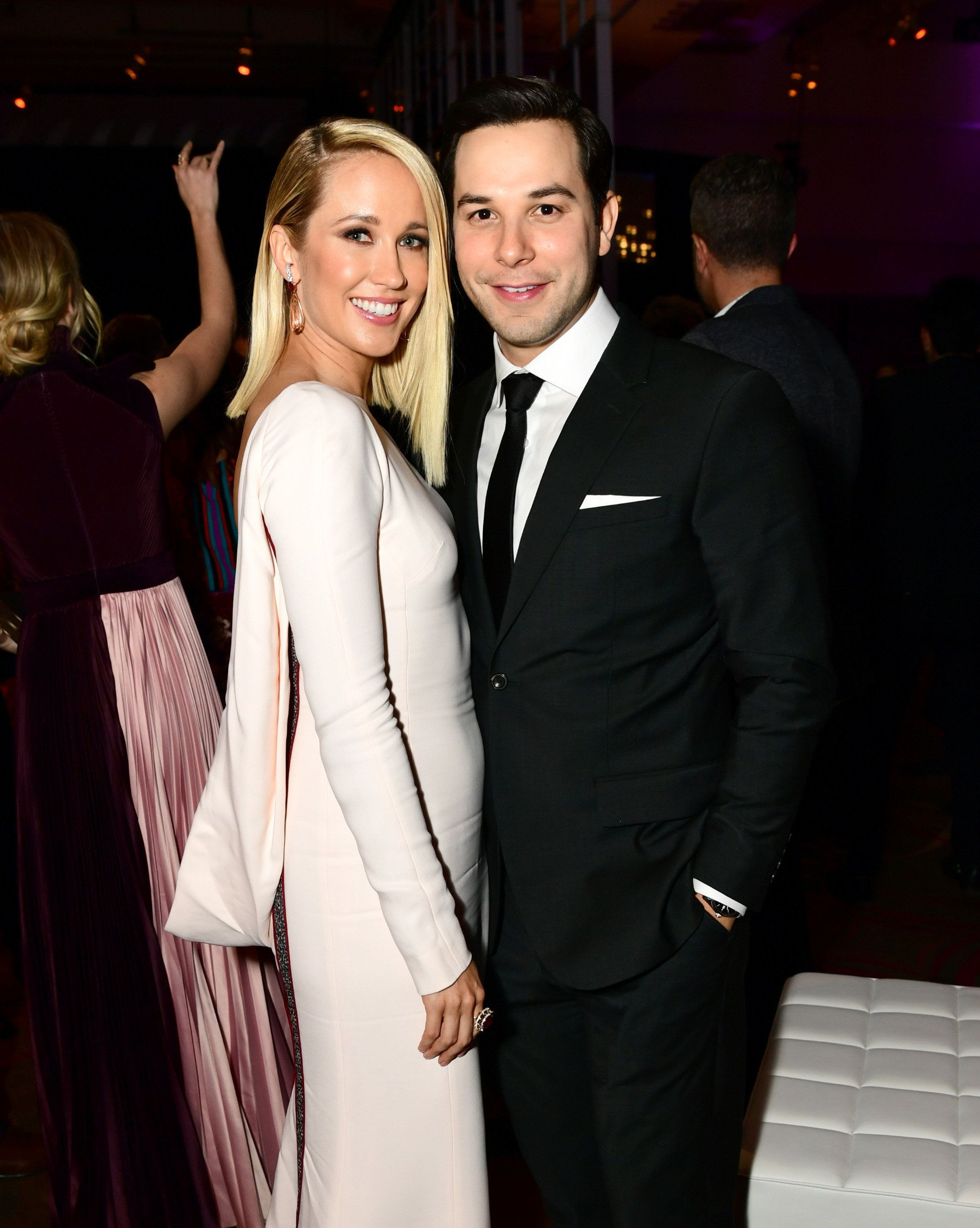 HOLLYWOOD, CA - DECEMBER 12:  Anna Camp and Skylar Astin attend the after party for the premiere of Universal Pictures' 'Pitch Perfect 3' on December 12, 2017 in Hollywood, California.  (Photo by Emma McIntyre/Getty Images)