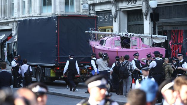 Extinction Rebellion's Iconic Pink Boat Has Been Towed Away By