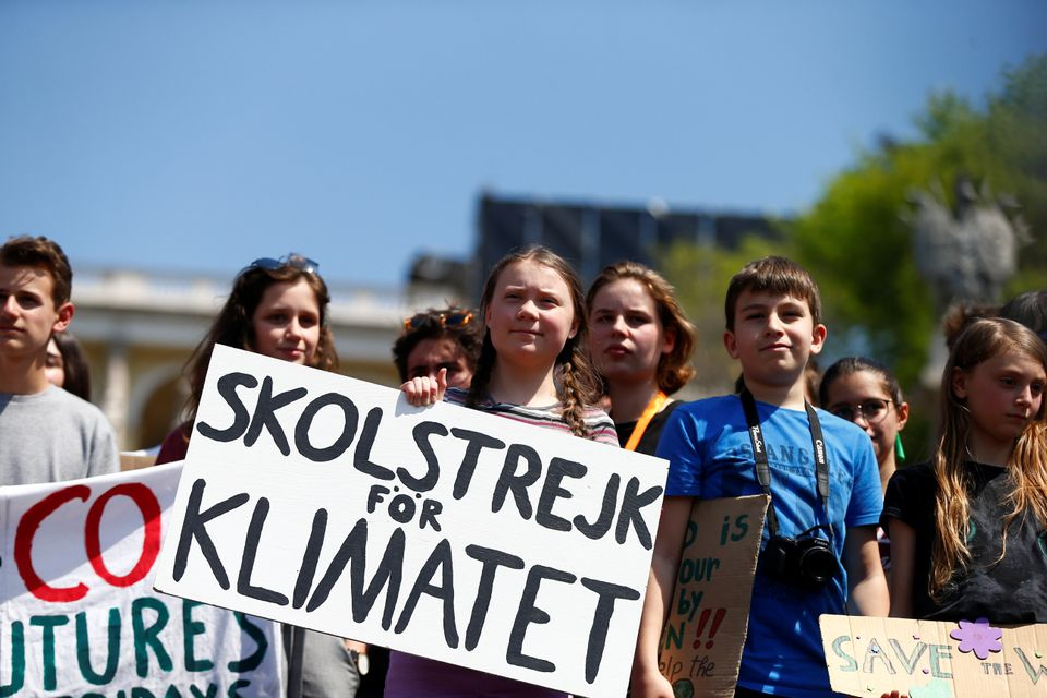 Swedish environmental activist Greta Thunberg joins Italian students Friday in Rome to demand action...