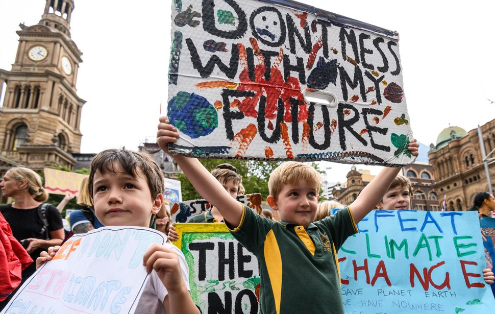 Young people protest in Sydney, Australia, as part of the global climate strike on March 15.