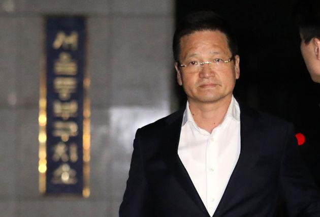 '김학의 별장 성폭력' 사건의 핵심 피의자 윤중천의 구속영장이