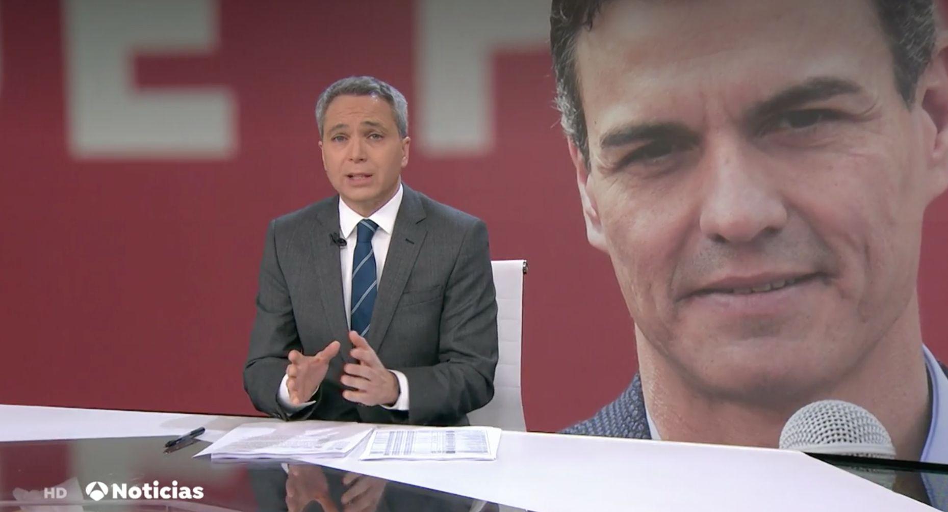 La frase de Vicente Vallés ('Antena 3 Noticias') sobre Pedro Sánchez que más comentarios está