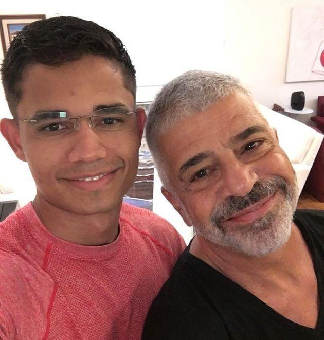 Lulu Santos e o marido Clebson Teixeira (Foto: Reprodução / Instagram)