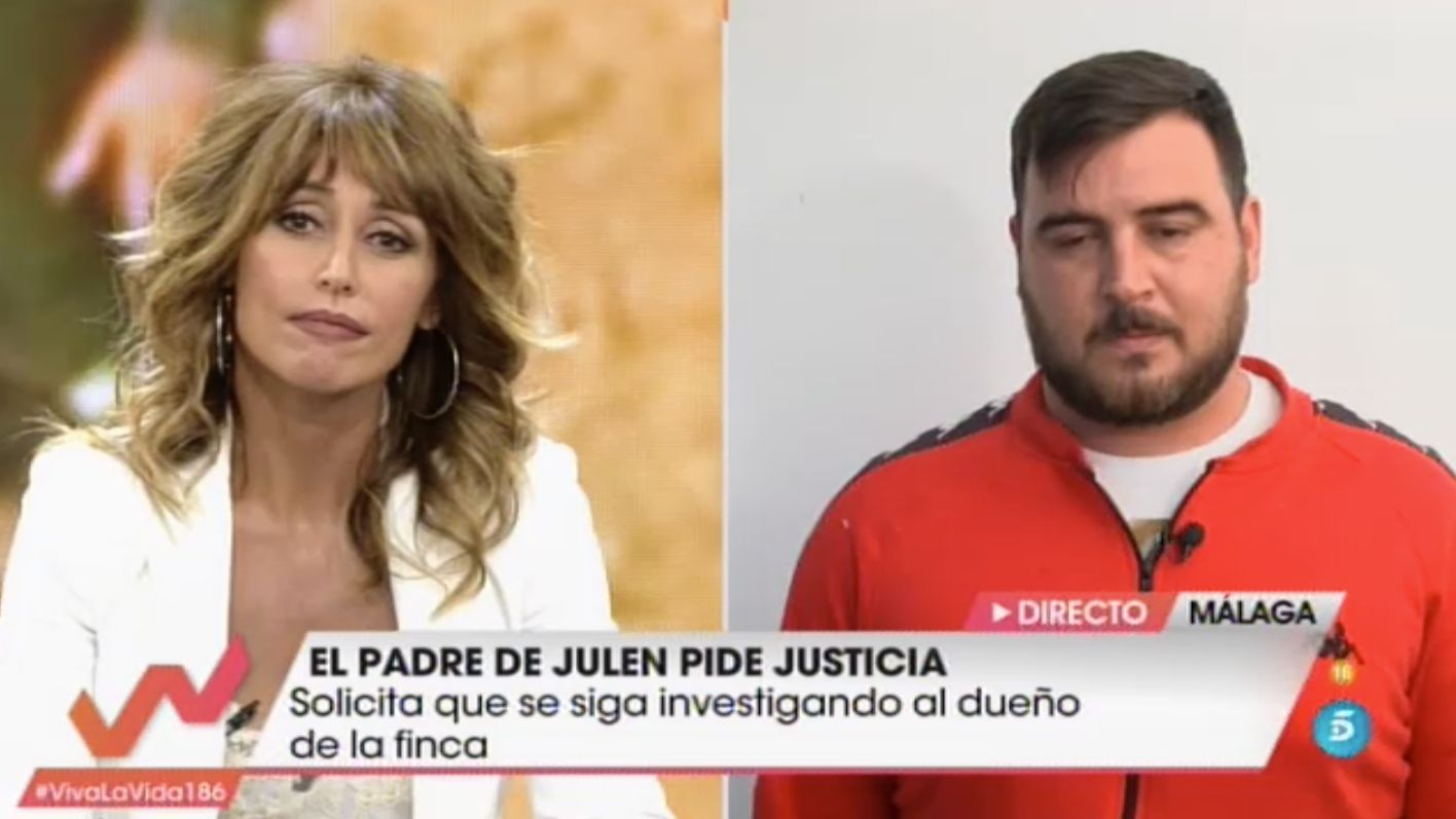 Emma García y el padre Julen en 'Viva La