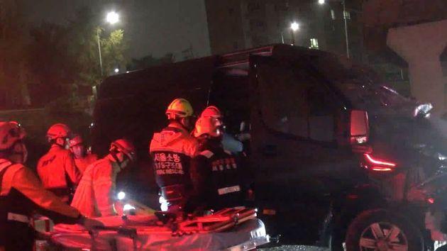 아이돌 그룹 머스트비 매니저가 교통사고로
