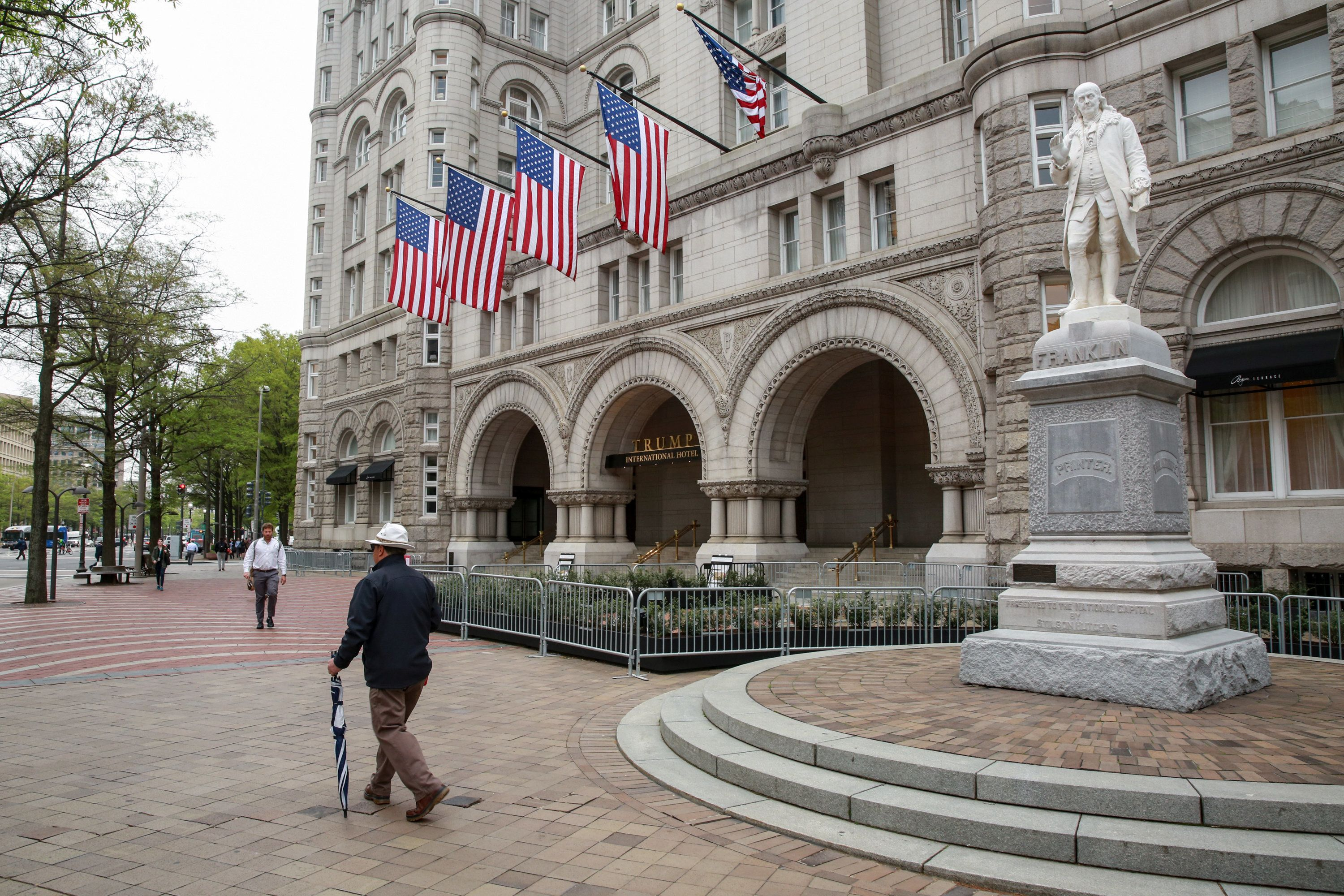 A general view of the Trump International Hotel seen ahead of the release of the Special Counsel Robert Mueller's report in Washington, U.S., April 18, 2019. REUTERS/Amr Alfiky