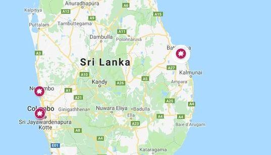 Quels églises et hôtels ont été pris pour cibles lors des attentats au Sri