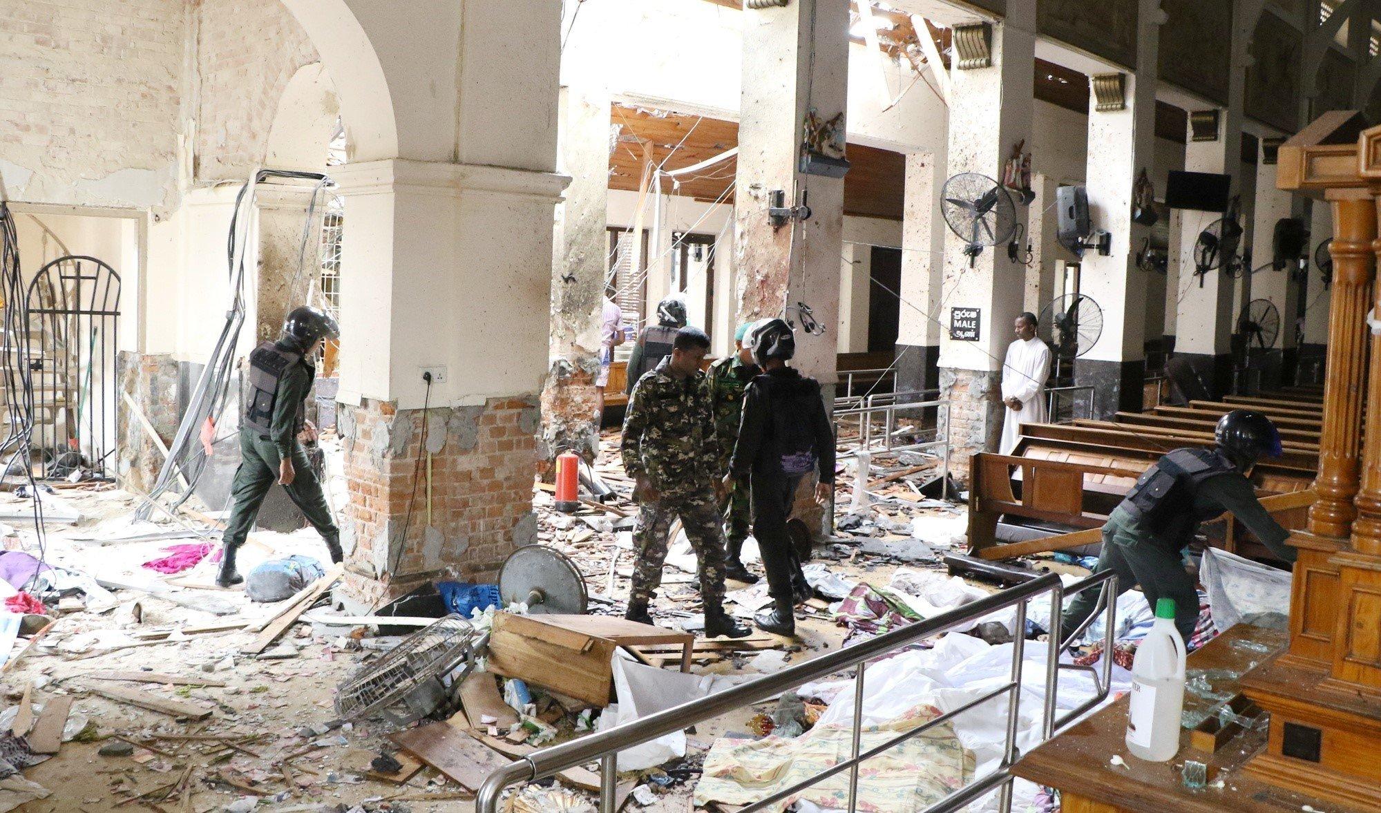 スリランカ、教会やホテルで爆発