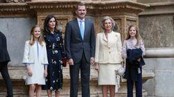 La Familia Real asiste a la misa de Pascua en la Catedral de Palma de