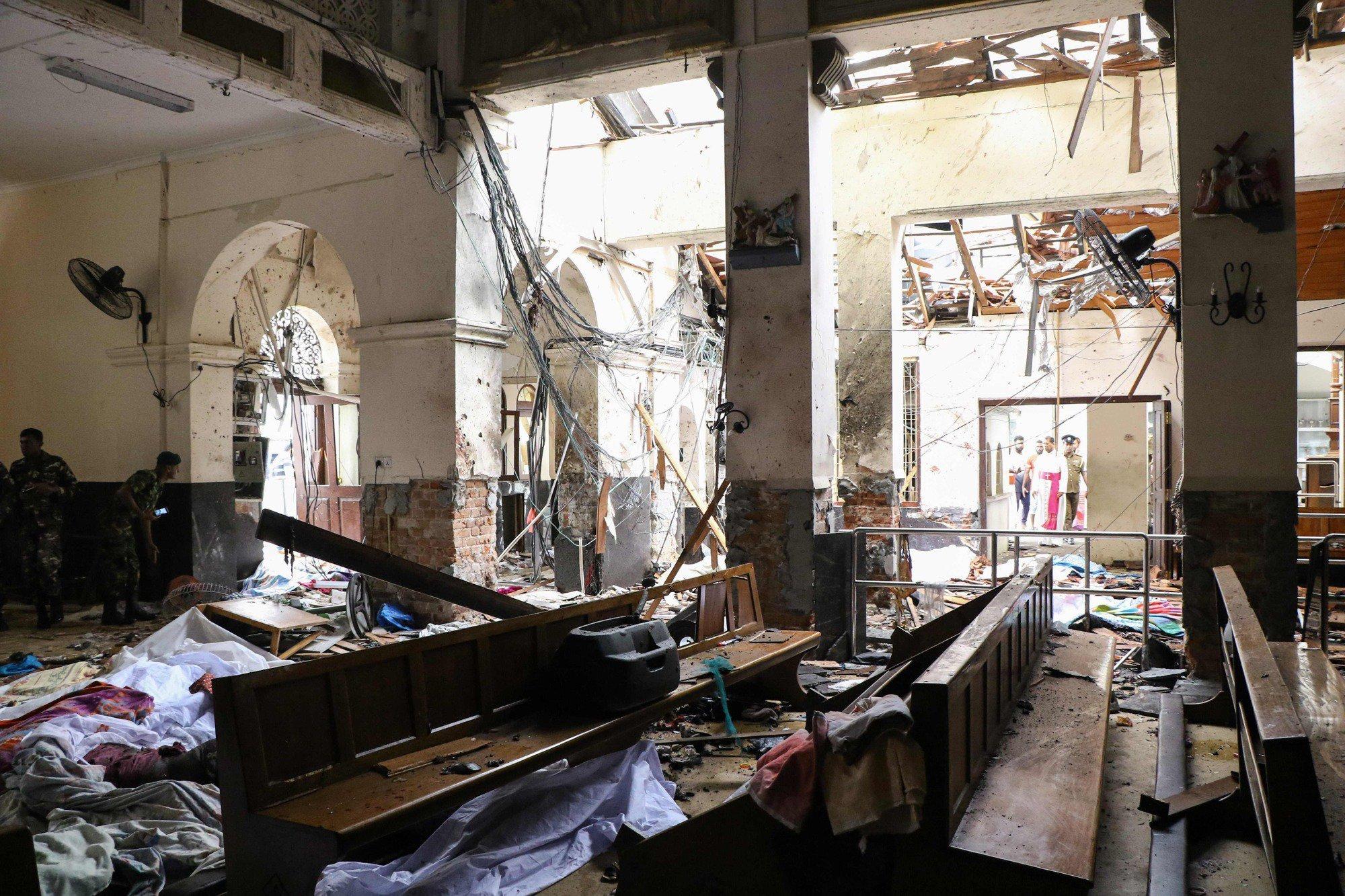 Al menos 290 muertos y más de 500 heridos en una cadena de atentados en Sri