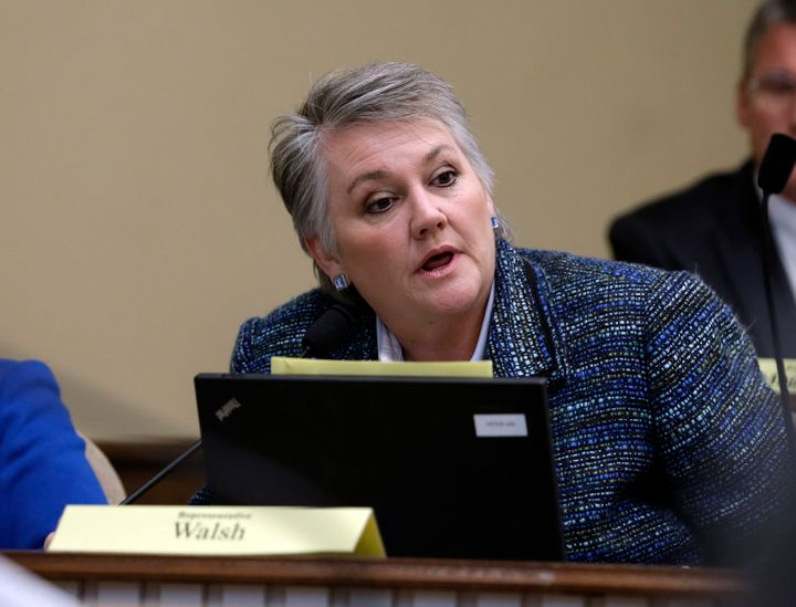 "Washington state Sen. Maureen Walsh said she regrets saying some nurses ""probably play cards"" during their shifts."