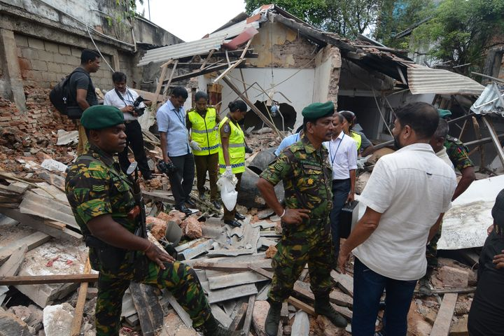 A view of blast site near the Dehiwala zoo, near Colombo, Sri Lanka, on April 21, 2019. (Photo by Akila Jayawardana/NurPhoto