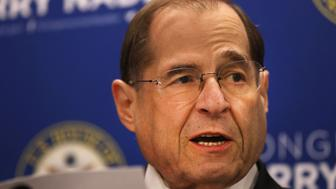 NEW YORK, NEW YORK - APRIL 18: House Judiciary Committee Chairman Jerrold Nadler (D-NY) holds a news conference on April 18, 2019 in New York City. Prior to the Justice Department's release of Mueller's report, Nadler requested Special Counsel Robert Mueller appear before his committee no later than May 23. Politicians, journalists and citizens alike are reading the highly anticipated report for the first time on Thursday.  (Photo by Spencer Platt/Getty Images)