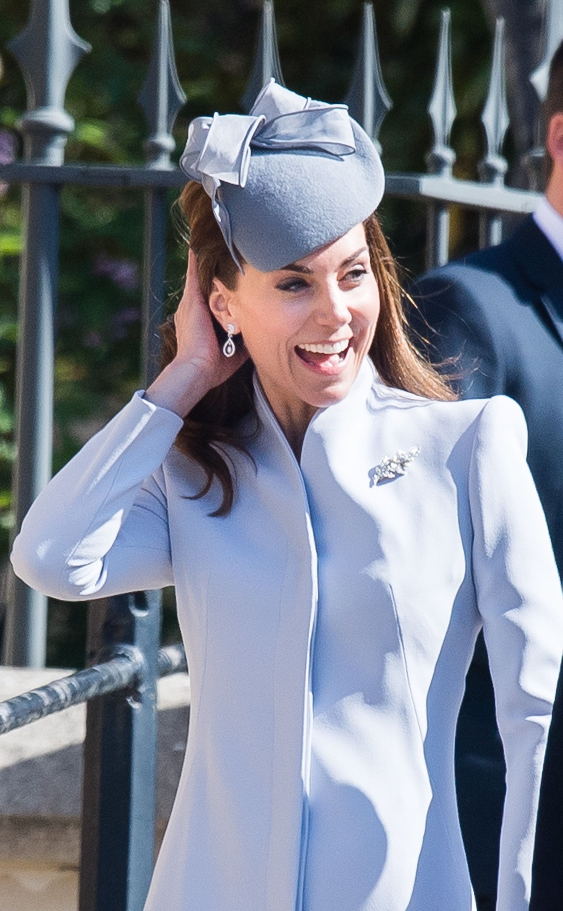 WINDSOR, ENGLAND - APRIL 21:  Catherine, Duchess of Cambridge  attends Easter Sunday service at St George's Chapel on April 21, 2019 in Windsor, England. (Photo by Samir Hussein/Samir Hussein/WireImage)