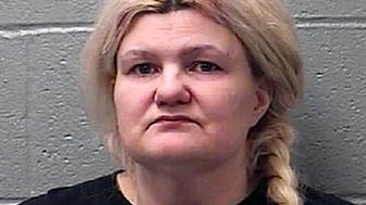 "This photo provided by the St. Francois County Sheriff's Department in Farmington, Mo., shows Malissa Ancona, who faces first-degree murder charges in the February 2017 death of Frank Ancona, who called himself an ""imperial wizard"" of the Ku Klux Klan. Ancona last year agreed to testify against her son, whom she originally blamed in the shooting but in a Sept. 26, 2018, letter to a judge says that she, not her son, pulled the trigger. (St. Francois County Sheriff's Department via AP)"