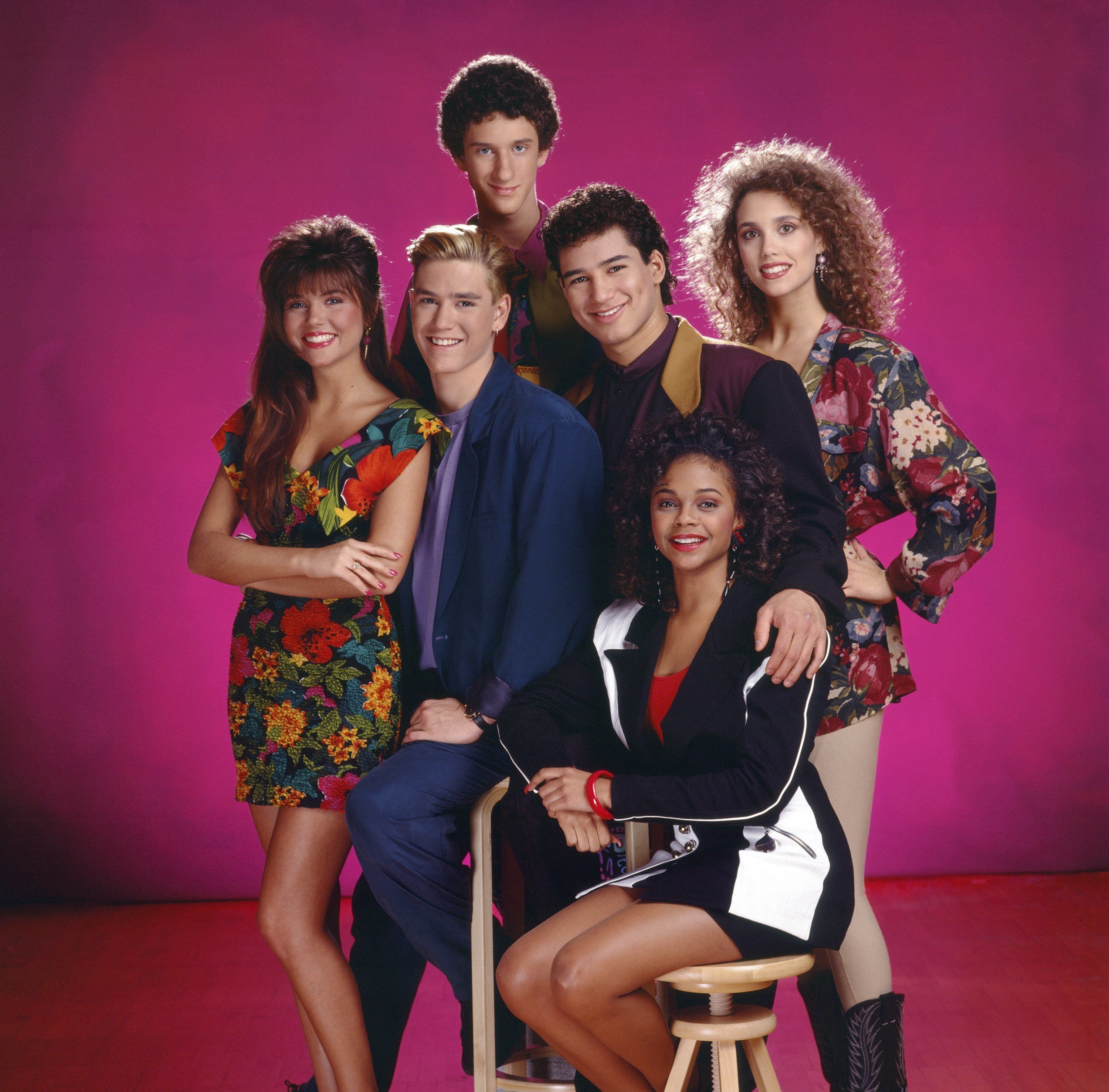 """Cast members from the hit series """"Saved by the Bell"""" are celebrating decades of friendship."""