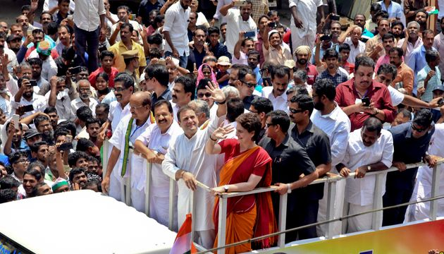 Rahul Gandhi holds a road show after filing his nomination from