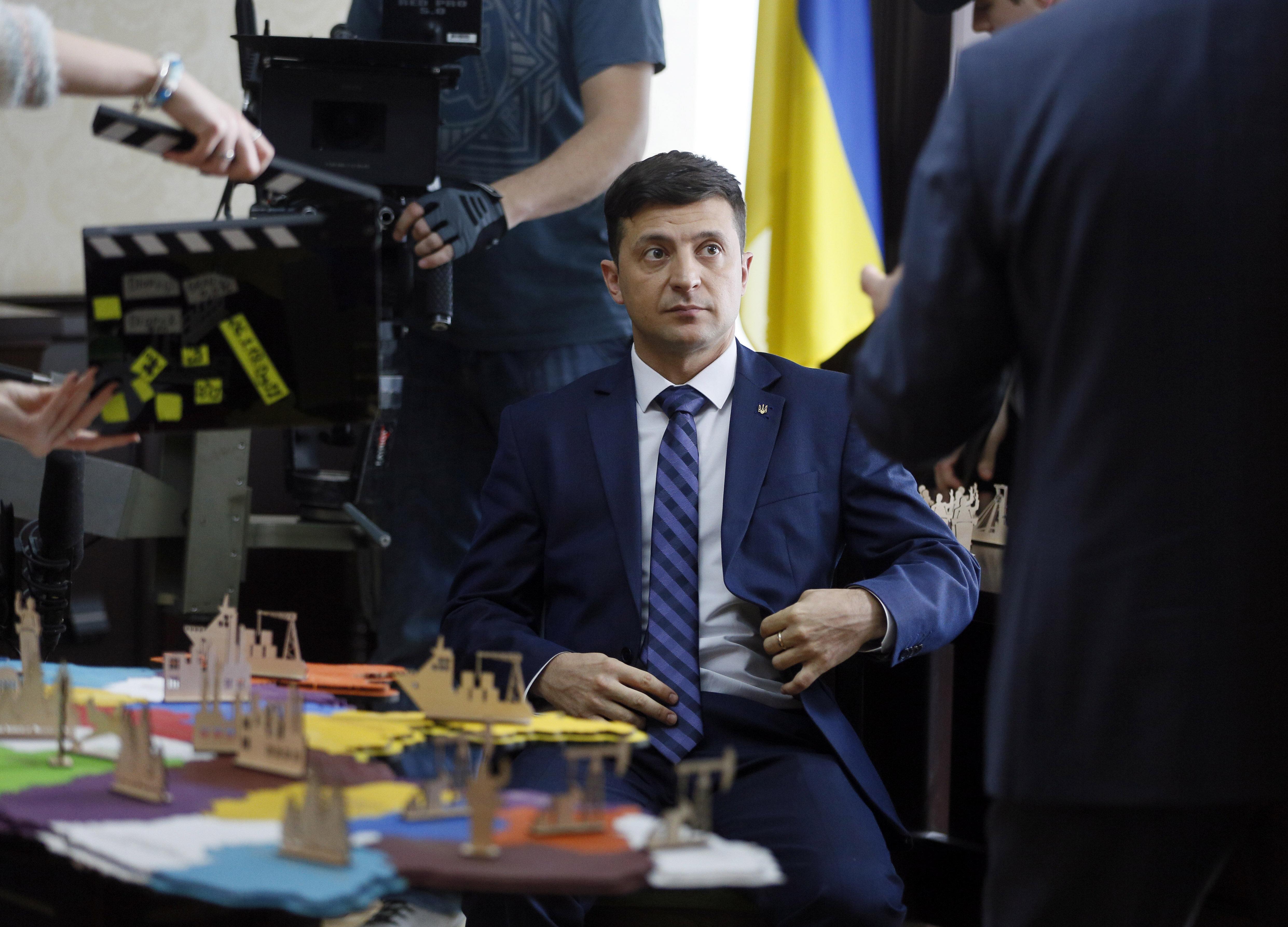 코미디언 출신 배우 볼로디미르 젤렌스키(41)가 21일 우크라이나 대통령에