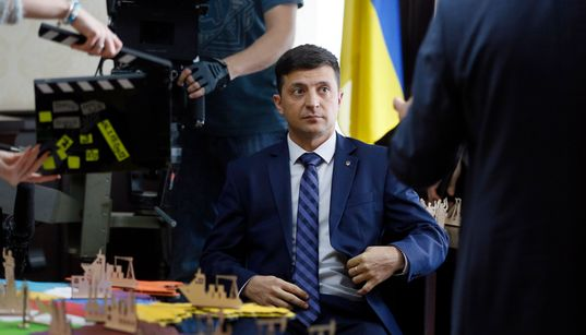대통령을 연기했던 젤렌스키가 우크라이나 대통령이