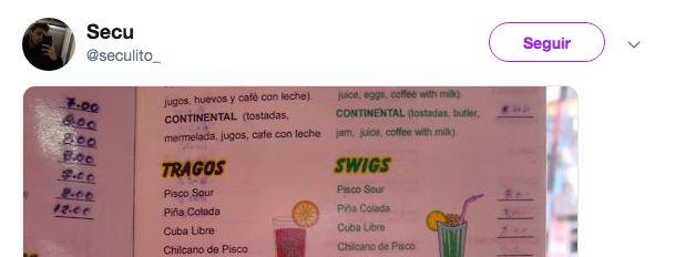 La horrible traducción en la carta de este restaurante es lo mejor que verás