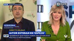 El dardo de Aitor Esteban a Susanna Griso al terminar su entrevista: