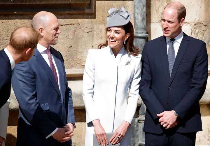 Harry did appear to joke with the Duke and Duchess of Cambridge, though it's highly unusual they would choose not to walk or