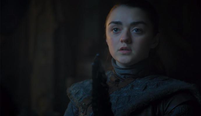 """Maisie Williams, sobre la escena más comentada de Arya: """"Pensé que era una"""