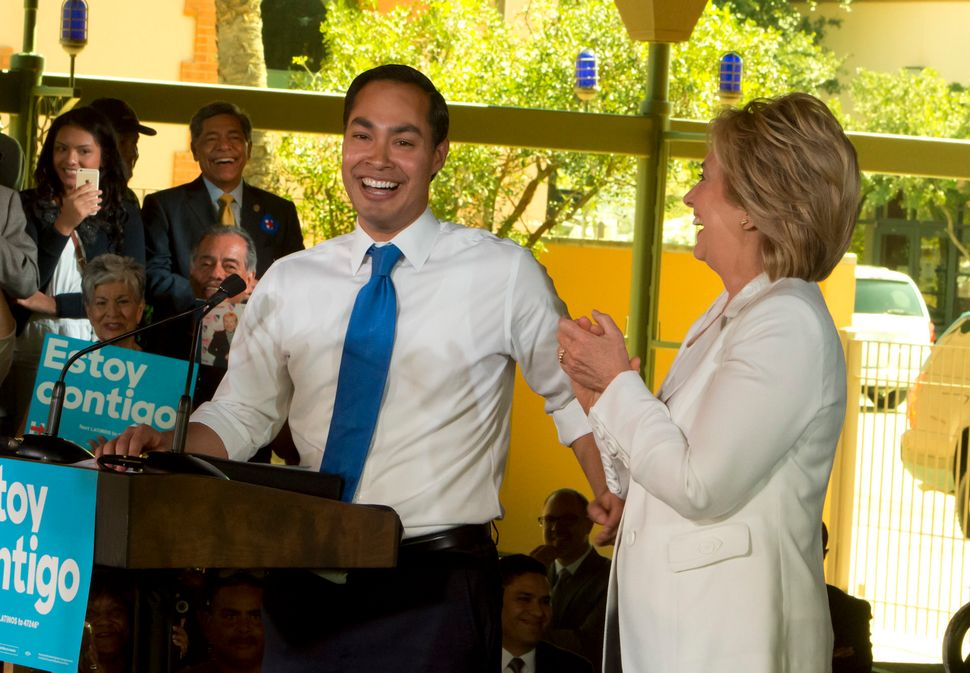 Castro campaigns with Hillary Clinton, right, on Oct. 15, 2015. In Clinton's consideration of Castro as a running mate, affor