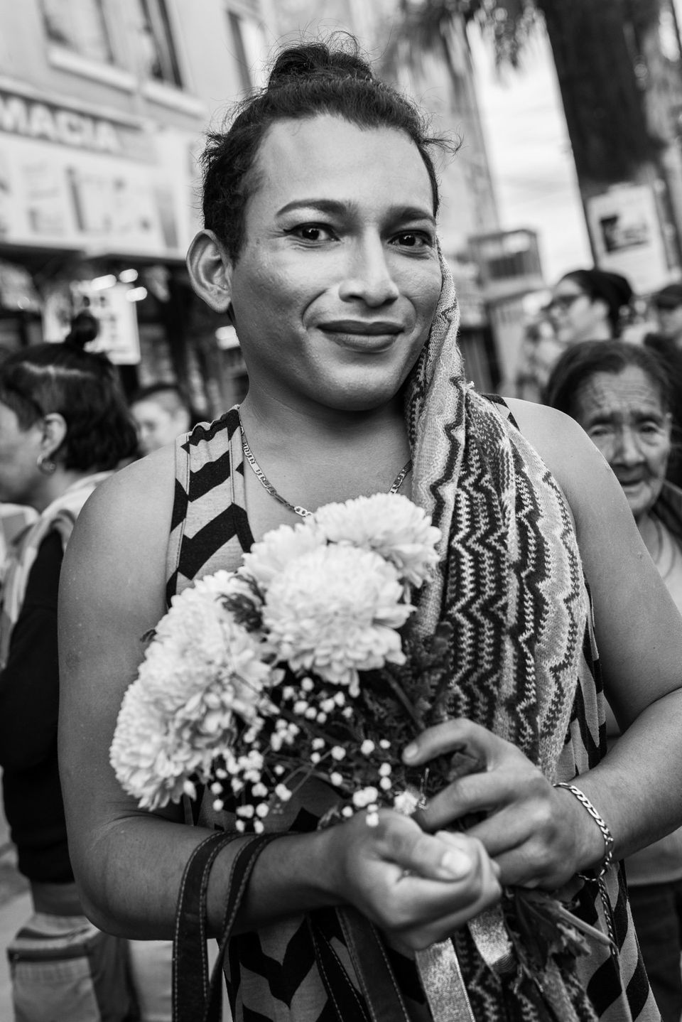 Mar is a member of the migrant caravan from Honduras and participated in an LGBTQ wedding in Tijuana, Mexico. Same-sex marria