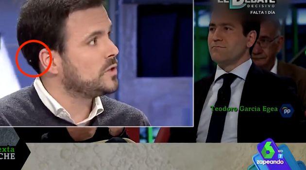 El detalle que casi nadie vio en el debate de 'La Sexta Noche': quizá ni Alberto Garzón se dio