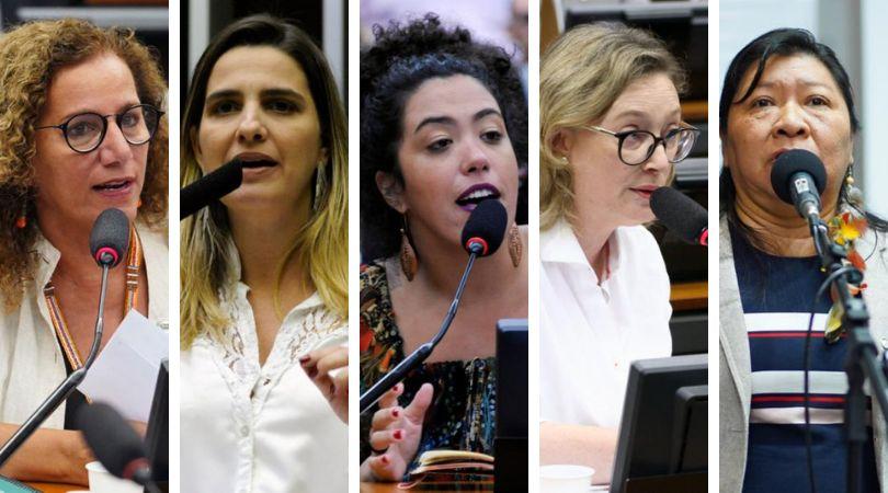 As deputadasJandira Feghali (PCdoB-RJ), Clarissa Garotinho(PROS-RJ),Talíria...