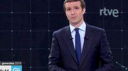 """Multitud de burlas por la frase más repetida de Casado en el debate: """"Qué vergüenza"""