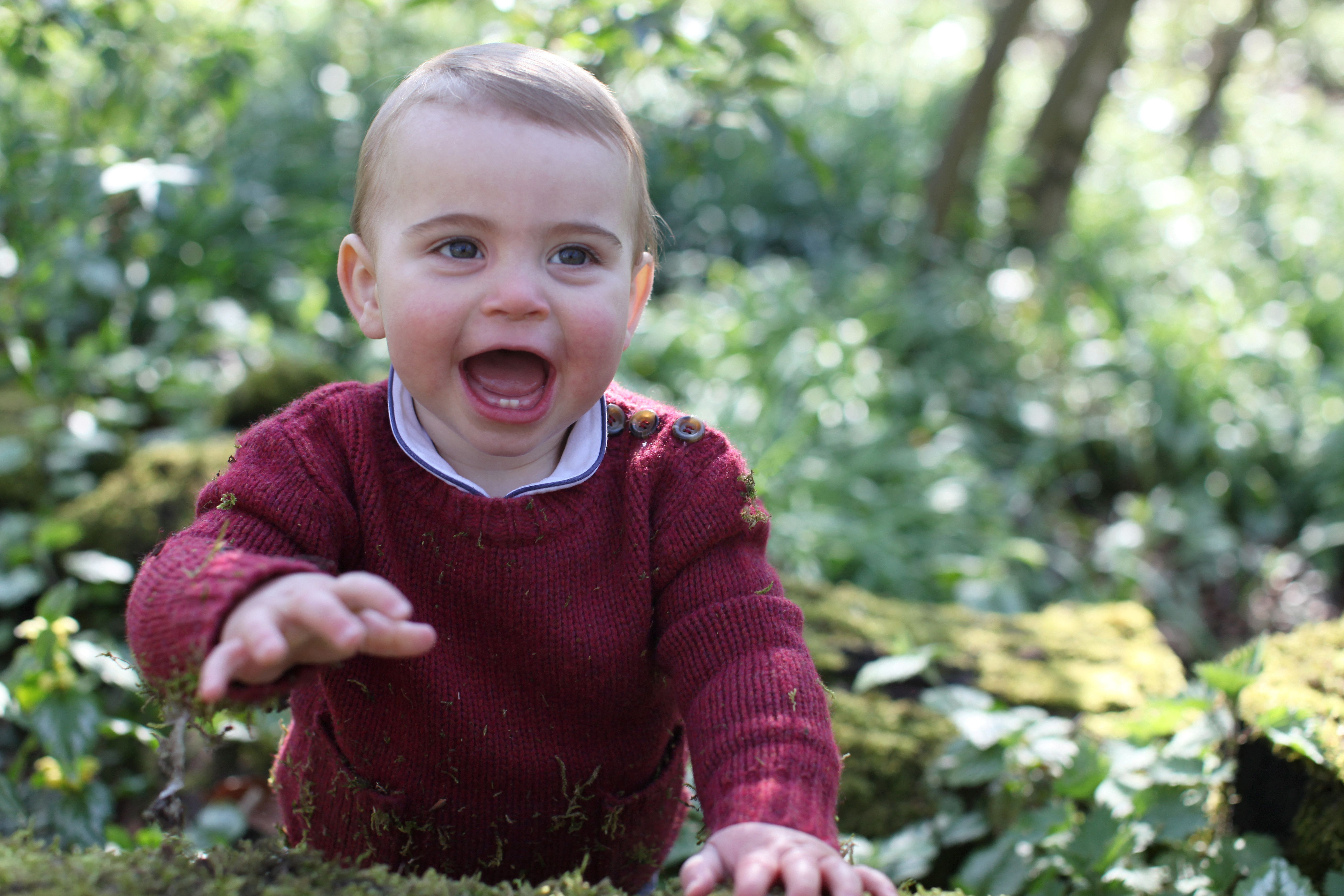 Undated handout photo of Britain's Prince Louis taken by his mother Catherine, Duchess of Cambridge, earlier this month at their home in Norfolk, Britain April 22, 2019. Duchess of Cambridge/Handout via REUTERS    THIS PICTURE IS PROVIDED BY A THIRD PARTY. NEWS EDITORIAL USE ONLY. NO COMMERCIAL USE. NO MERCHANDISING, ADVERTISING, SOUVENIRS, MEMORABILIA or COLOURABLY SIMILAR. NOT FOR USE AFTER 31 DECEMBER, 2019 WITHOUT PRIOR PERMISSION FROM KENSINGTON PALACE. NO CHARGE SHOULD BE MADE FOR THE SUPPLY, RELEASE OR PUBLICATION OF THE PHOTOGRAPH. THE PHOTOGRAPH MUST NOT BE DIGITALLY ENHANCED, MANIPULATED OR MODIFIED IN ANY MANNER OR FORM AND MUST INCLUDE ALL OF THE INDIVIDUALS IN THE PHOTOGRAPH WHEN PUBLISHED. MANDATORY CREDIT: The Duchess of Cambridge