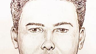 "In this undated police artist sketch provided by the Indiana State Police is the new ""face"" of the Delphi Murder suspect Monday, April, 22, 2019. Authorities have released video of a man suspected of killing two Indiana teenagers two years ago and urged the public to scrutinize the footage, which shows the man walking on an abandoned railroad bridge the girls visited while out hiking the day they were killed. The State Police also released a new sketch of the suspect, which Superintendent Doug Carter says was produced thanks to ""new information"" collected during the investigation into the killings of Liberty German and Abigail Williams. (Indiana State Police via AP)"