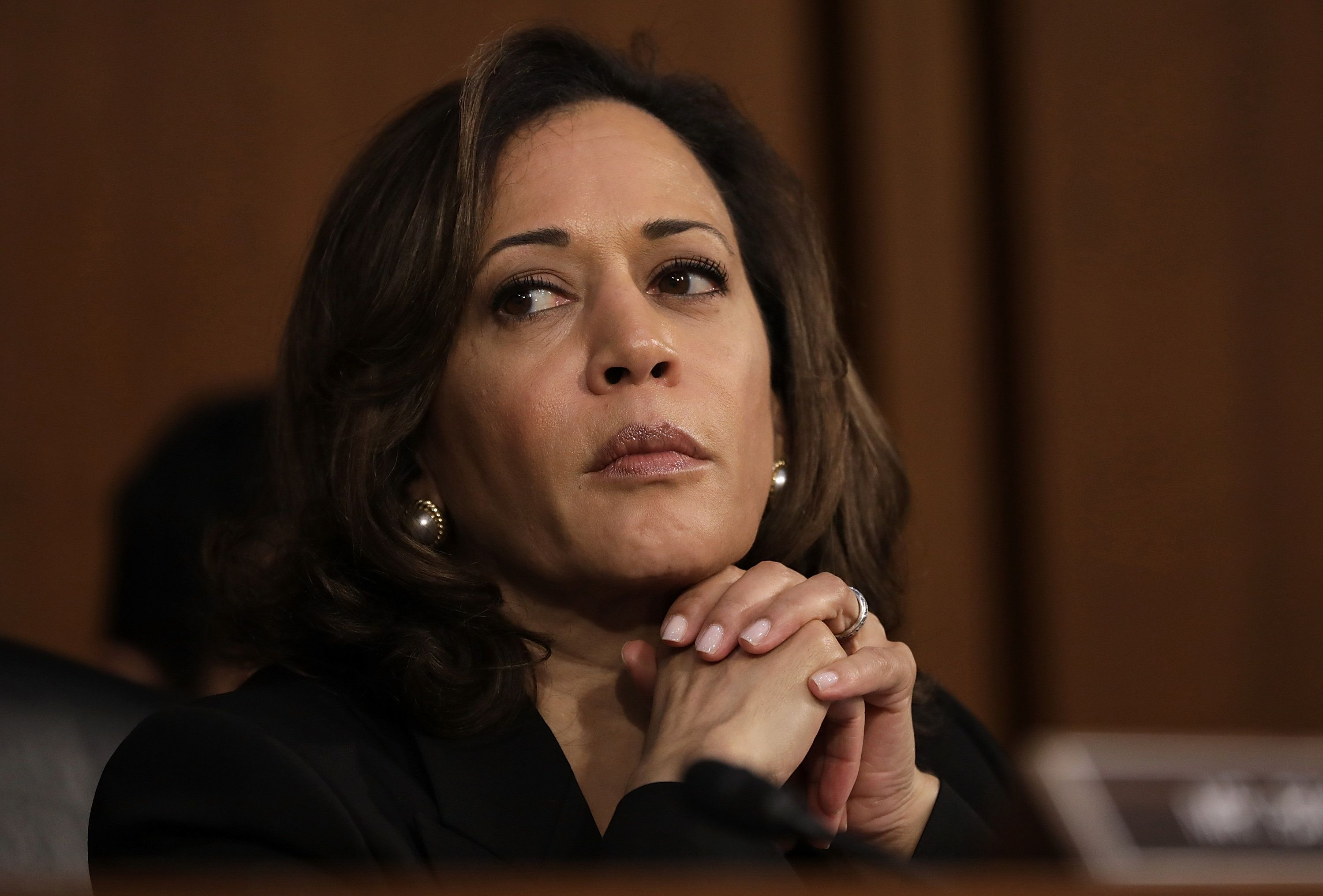 Democratic presidential candidate Kamala Harris spoke about gun violence at a CNN town hall Monday night.