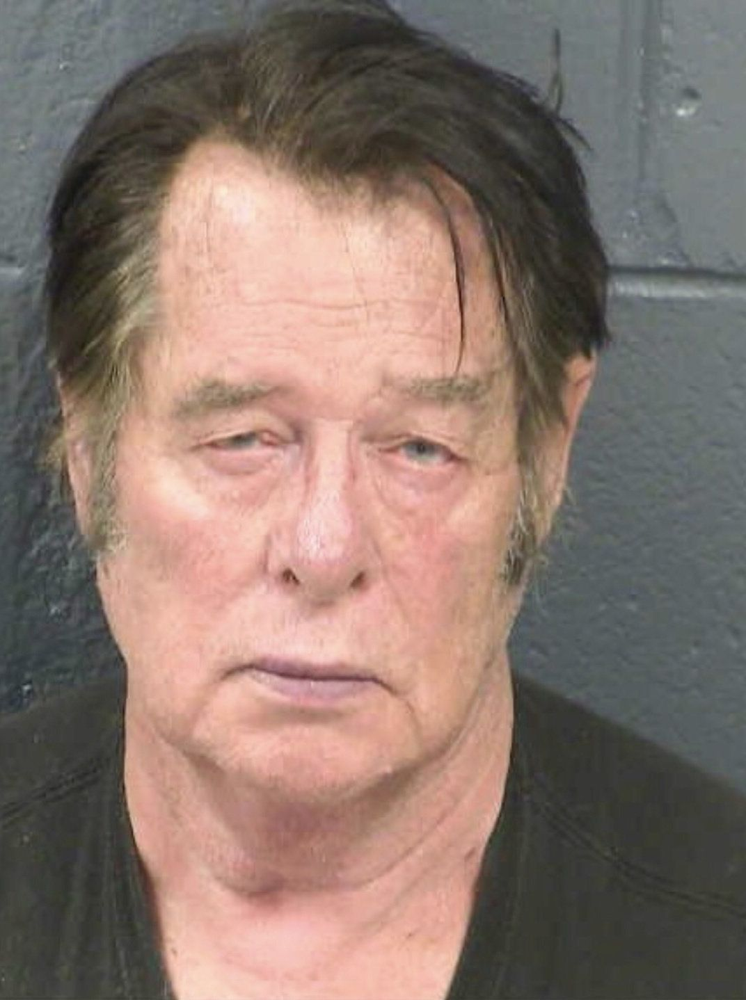 Larry Mitchell Hopkins appears in a police booking photo taken at the Dona Ana County Detention Center in Las Cruces, New Mexico, U.S., April 20, 2019. Picture taken April 20, 2019. Dona Ana County Detention Center/Handout via REUTERS.  ATTENTION EDITORS - THIS IMAGE WAS PROVIDED BY A THIRD PARTY.