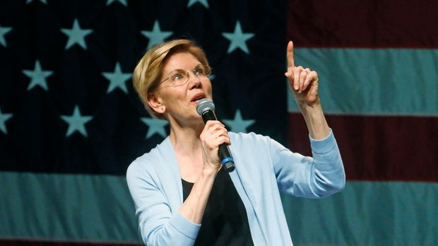 Democratic presidential candidate Sen. Elizabeth Warren, D-Mass., speaks during an campaign rally Wednesday, April 17, 2019, in Salt Lake City. (AP Photo/Rick Bowmer)