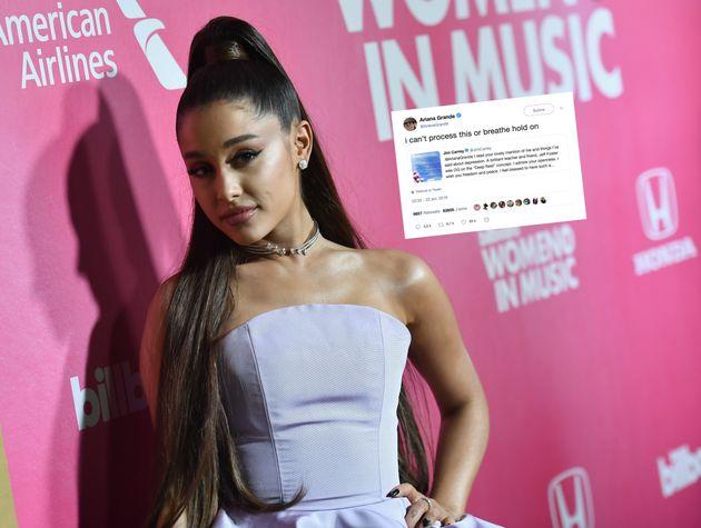 L'adorable échange entre Ariana Grande et Jim Carrey sur la