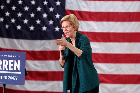 FILE PHOTO: Democratic 2020 U.S. presidential candidate and U.S. Senator Elizabeth Warren (D-MA) speaks to supporters in Memphis, Tennessee, U.S. March 17, 2019. REUTERS/Karen Pulfer Focht/File Photo