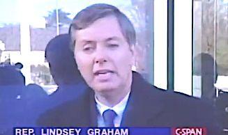Sen. Lindsey Graham Says Lying President Should Quit — But Not THAT Lying President