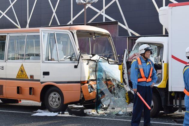 熊本市中央区の事故現場
