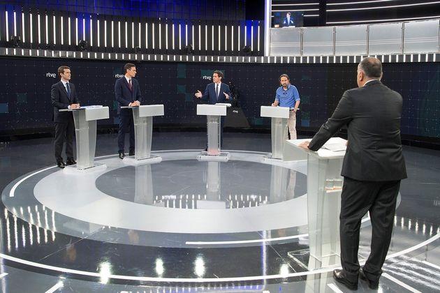 El debate a cuatro arrasa en audiencia: 8,9 millones de