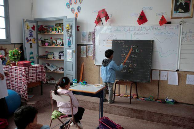 Des élèves dans l'école des Oudayas, à Rabat, janvier