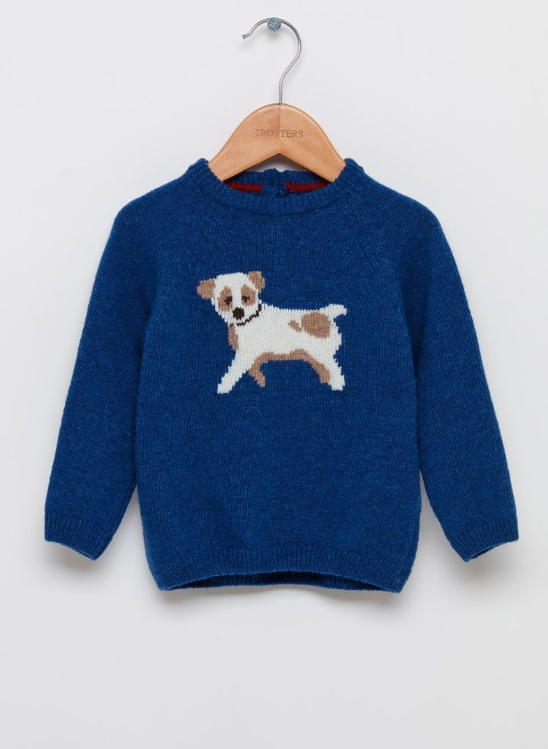 Space Corgi Boys Pullover Sweater Funny Crew Neck Knitted Sweater for 2-6T