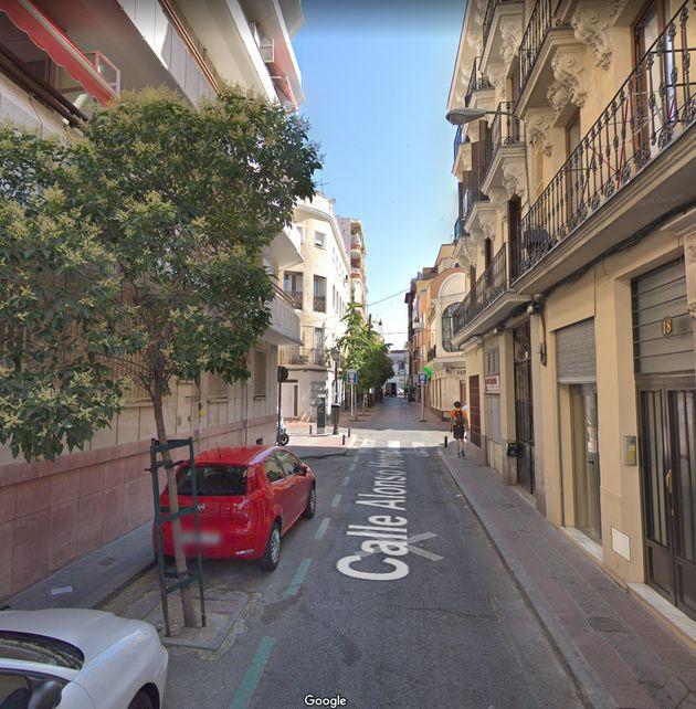 La calle de Alonso Heredia, en Madrid, donde residía la